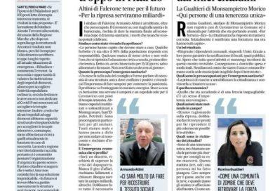 Corona, la parola ai sindaci (dal Corriere Adriatico del 28-3-2020)