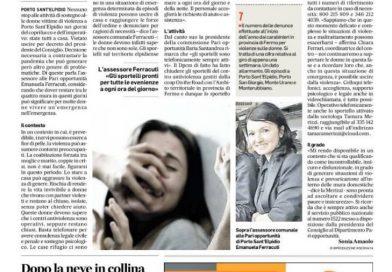 Violenza sulle donne, il coprifuoco non aiuta (dal Corriere Adriatico del 28-3-2020)