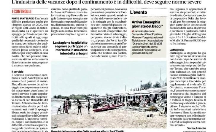 Corriere Adriatico 16-7-2020