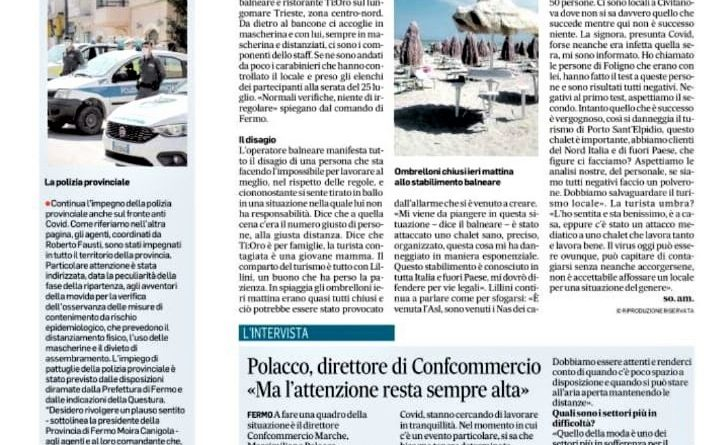 Corriere Adriatico 5-8-2020 2