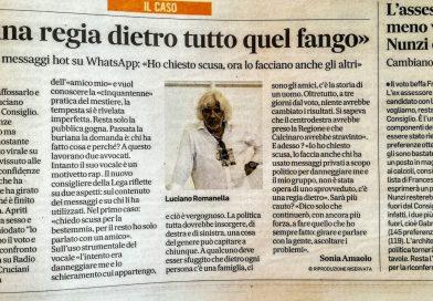 Luciano Romanella: c'è una regia dietro tutto quel fango